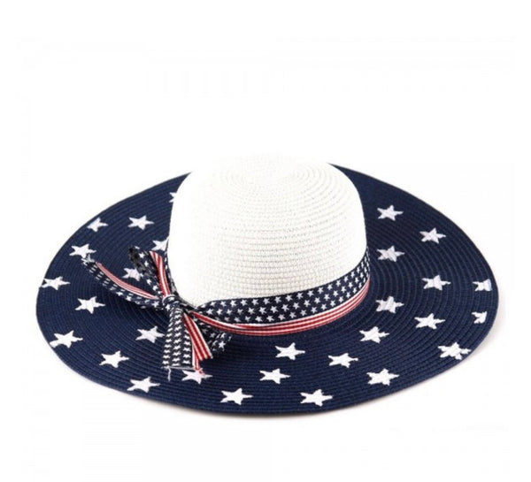 Patriotic Wide Brim Hat