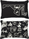 Black and White State Pillow