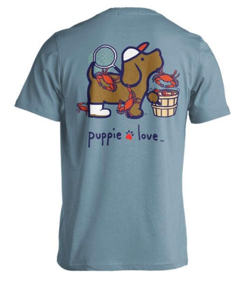 Puppie Love Crab Pup Tshirt