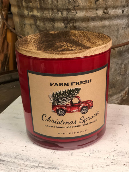 Farm Fresh Christmas Spruce 3 Wick Candle