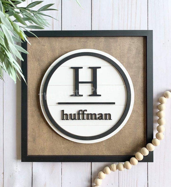 DIY Monogram Name Sign Kit