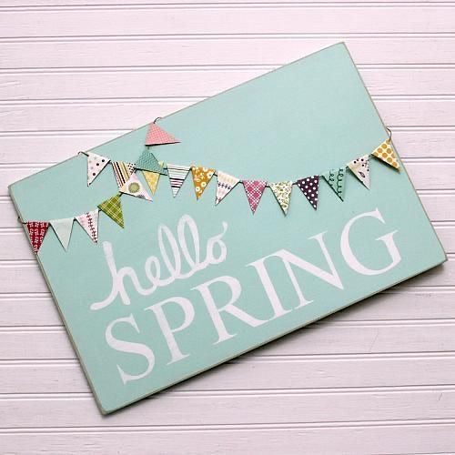 DIY Hello Spring Banner Wood Sign Kit