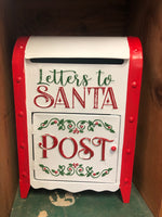 "Metal ""Letters to Santa"" Christmas mailbox"
