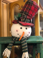 Snowman Head Shelf Setter