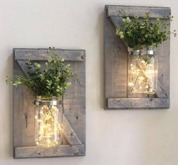 Private farmhouse mason jar sconce  bridal party  4/4/2020