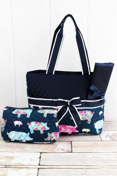 Quilted Pig Diaper Bag