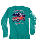 Adventure Pup Long sleeve Puppy Love T shirt