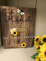 "DIY "" Bee Kind"" String art craft kit"