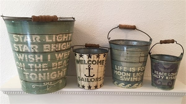 Starlight Star Bright Metal Pail