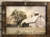 The Old Hay Barn -Lath Framed Wall Sign
