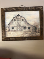 The Barn - Lath Framed Wall Sign