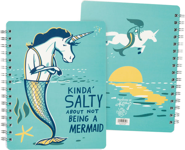 Kinda Salty About Not Being A Mermaid Notebook