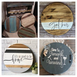 DIY Round Wood / Stove Cover Tray Workshop 12/11/19