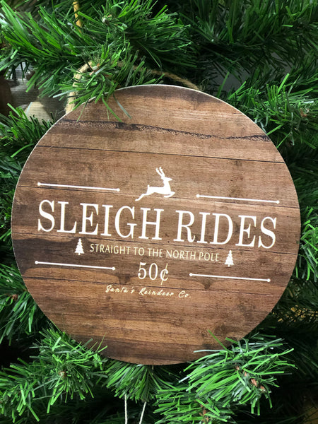 Sleigh Rides Door Hanger/ Ornament