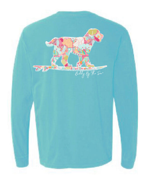 Buddy by the Sea- Seaside Floral Long Sleeve Tshirt