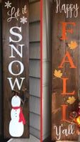 DIY Double Sided Seasonal Porch Sign Workshop