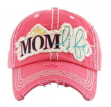 Mom Life Distressed Cap