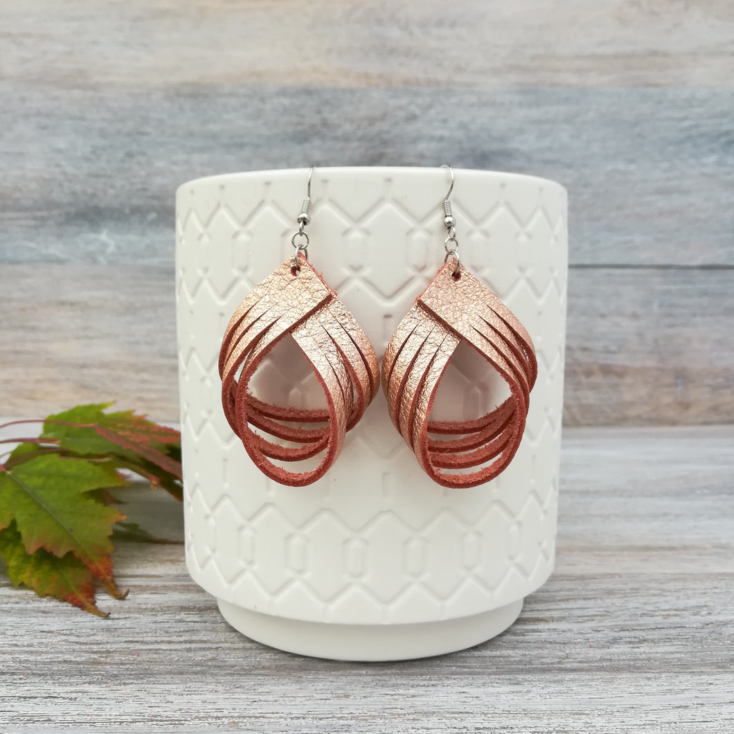 Rose Gold Palm Earrings