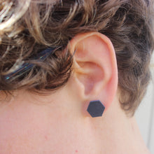 Load image into Gallery viewer, Navy Blue Stud Earrings