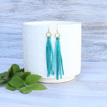 Load image into Gallery viewer, Turquoise Tassel Earring