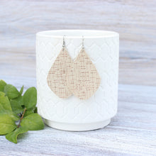 Load image into Gallery viewer, Cream w/Rose Gold Specks Aspen Earrings
