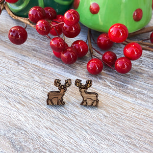 Reindeer Christmas Stud Earrings