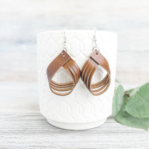 Brown Palm Earrings