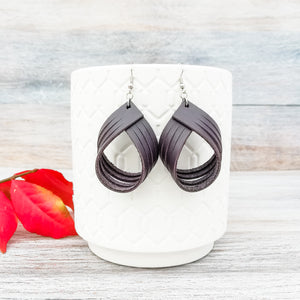 Plum Palm Earrings