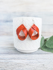 Harvest Pumpkin Palm Earrings