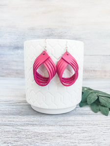 Flamingo Palm Earrings