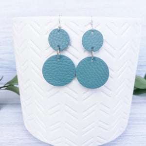 Sea Form Blue  Circle Earrings