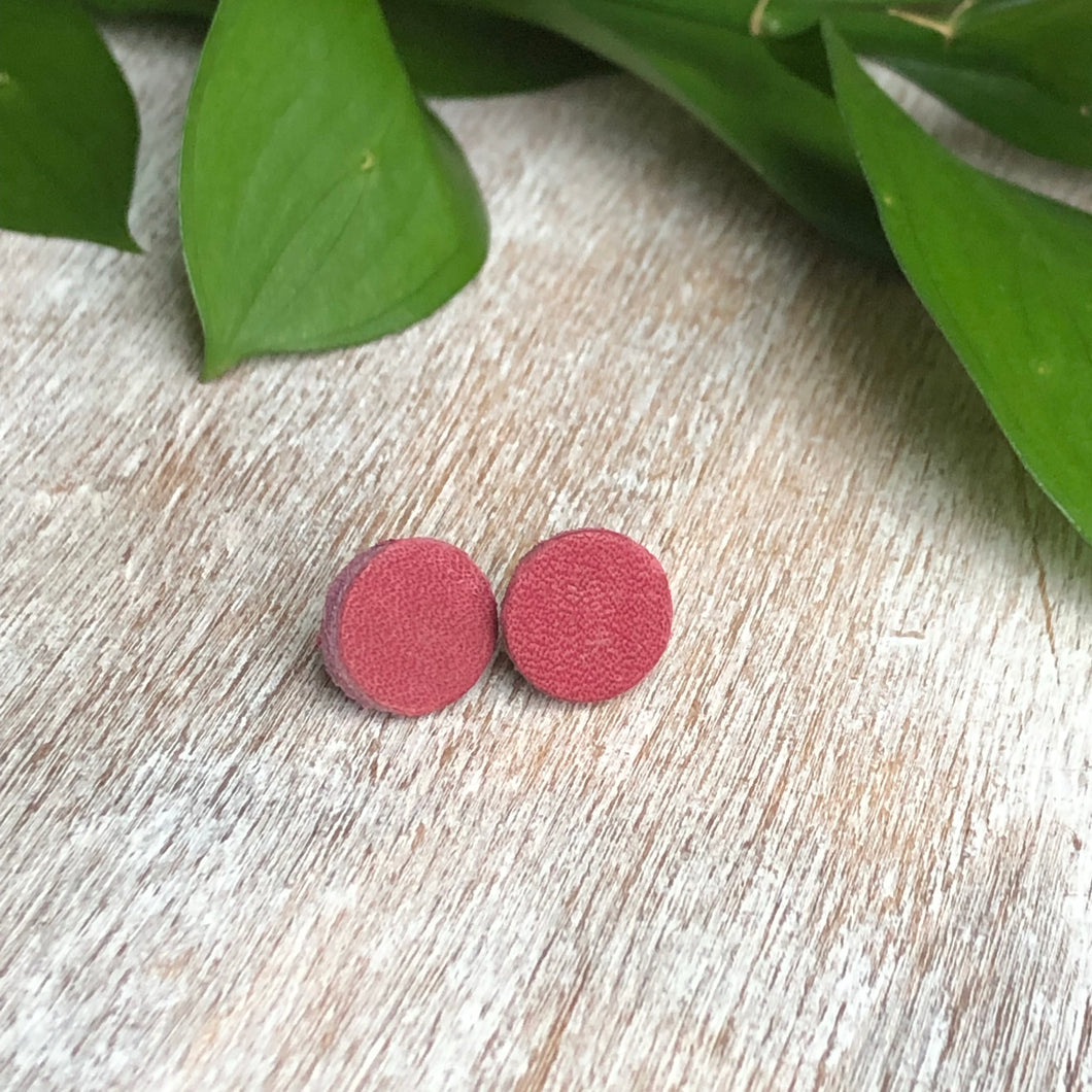 Raspberry Stud Earrings