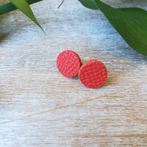 Tangerine Red Stud Earrings