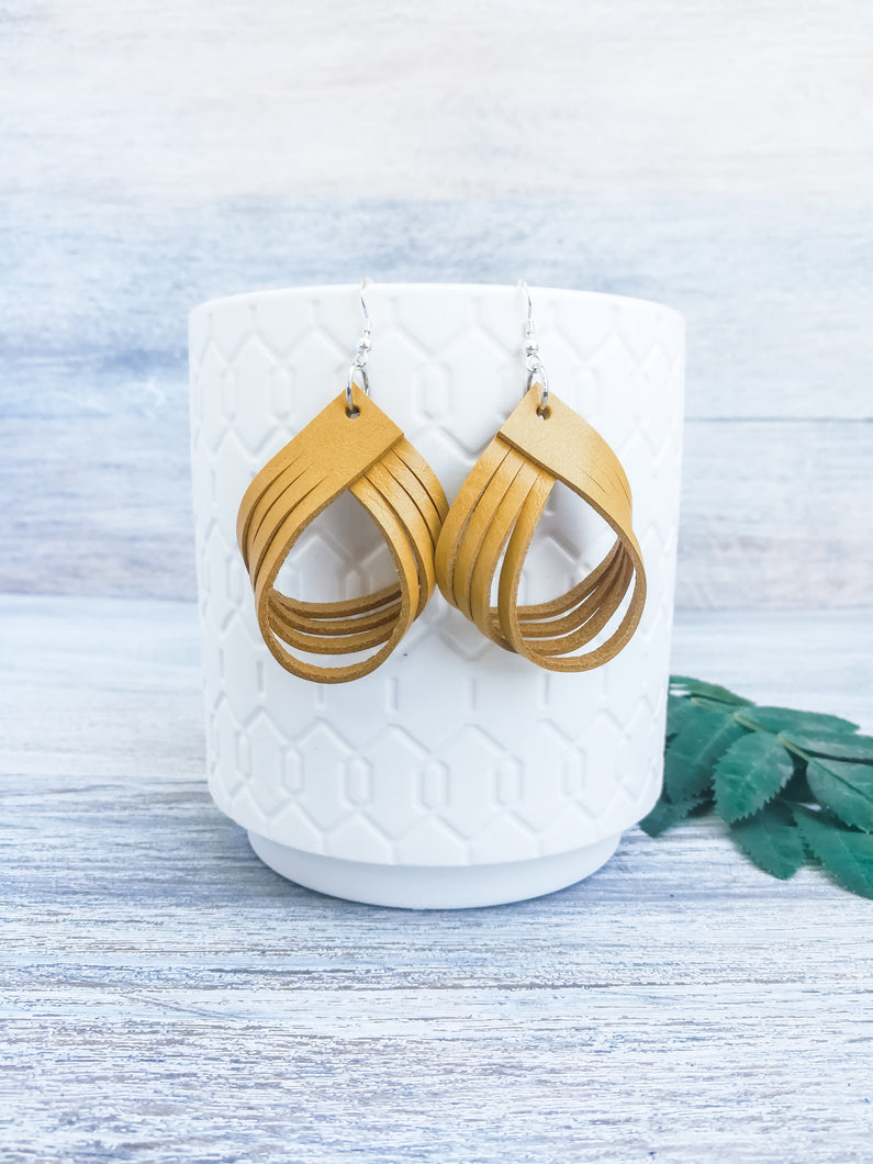 Antique Yellow Palm Earrings