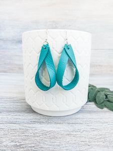 Turquoise Jade Earrings