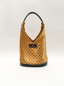 Gold Polka-Dot Hobo Bag