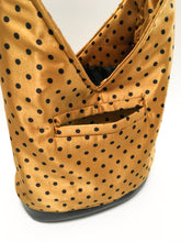 Load image into Gallery viewer, Gold Polka-Dot Hobo Bag