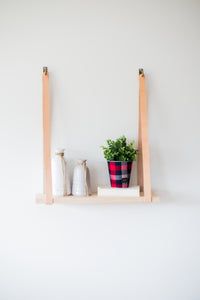 Small Leather Strapped Shelves
