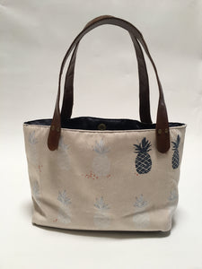 Pineapple Small Canvas Tote