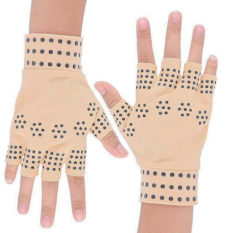 1 Pair Pain Relief Fingerless Glove Magnetic Anti