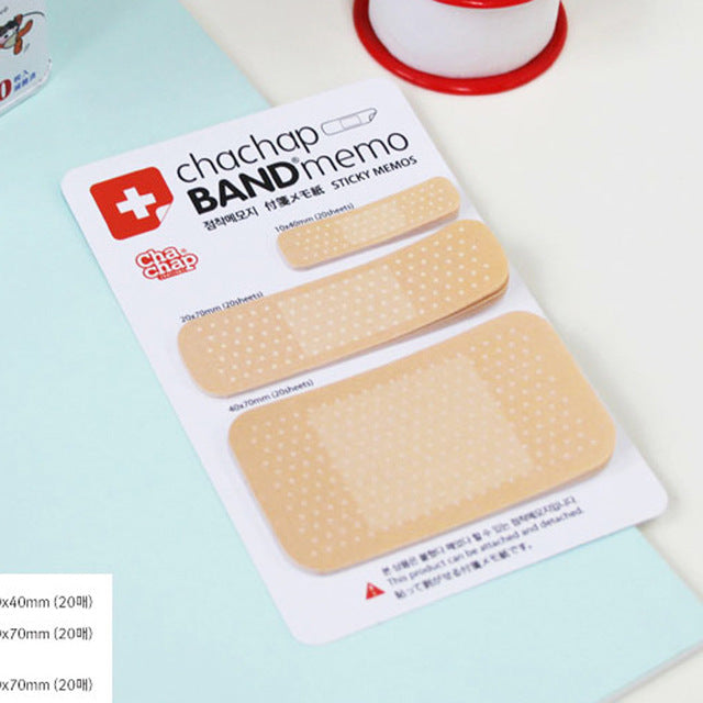 3 Pcs Creative Memo Pads Band aid Series Post