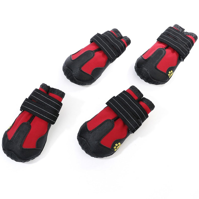 4pcs Dog Shoes Outdoor Sport Shoes Waterproof