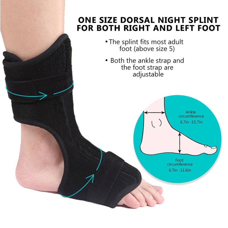 Adjustable Foot Orthosis Plantar Fasciitis Dorsal