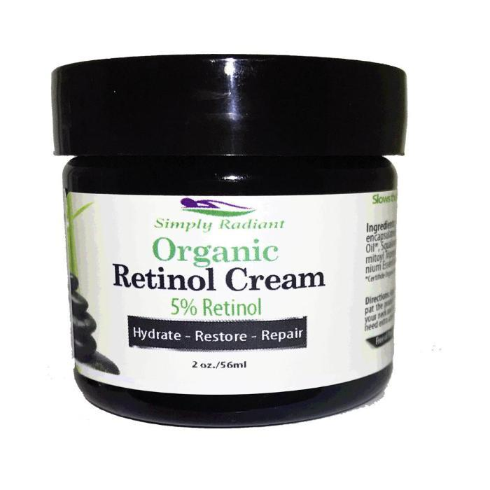 Organic Retinol Cream 5% + Hyaluronic Acid &