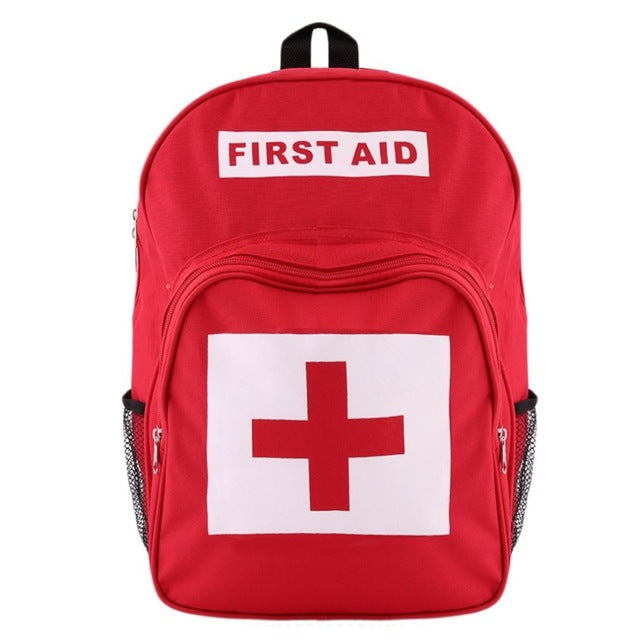 Red Cross Backpack First Aid Kit Bag Outdoor