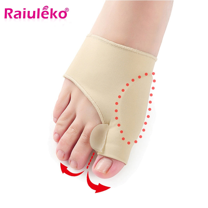 2Pcs=1Pair Medical Device Hallux Valgus Foot Care Toe Separator Thumb Valgus Protector Splint Correction Feet Tool Pedicure Sock