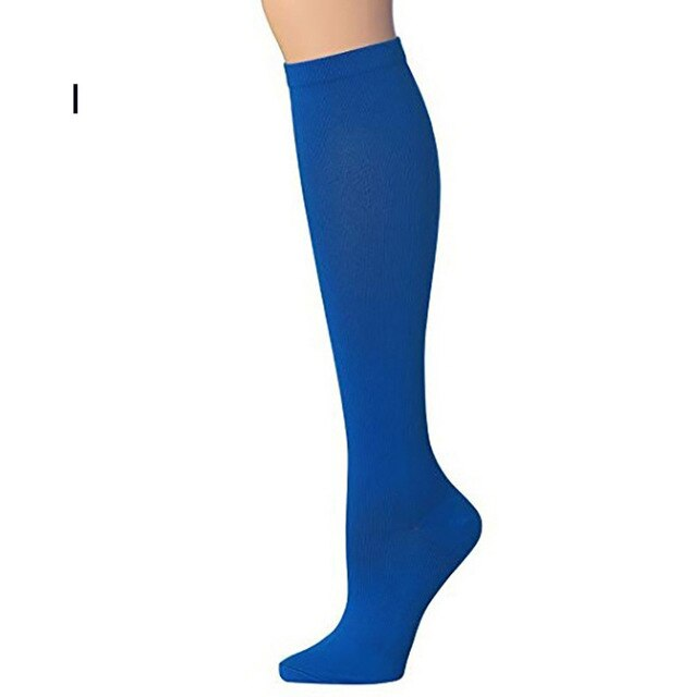 1 Pair Sports Knee High Compression Stretch Socks for Women Men Unisex Medical Nursing Travel & Flight Stocking Miracle Socks
