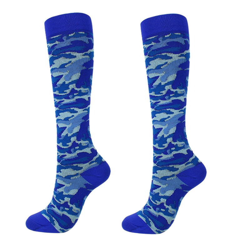 1Pair New Men Women Sports Football Running Sockings Colorful Soft Medical Fashion Casual Sports Training Calf Support Stockings