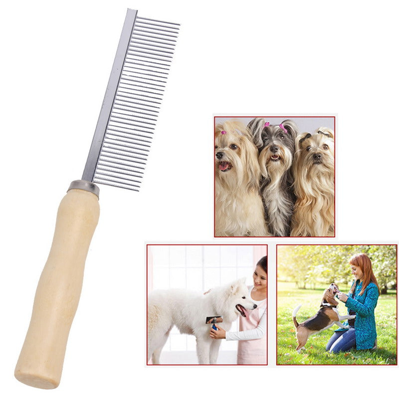 Pet Hair Grooming Asymmetric Cat Dog Hair Comb Stainless Steel Pet Massage Hair Trimmer Comb Dog Cat Easy Cleaning Brush