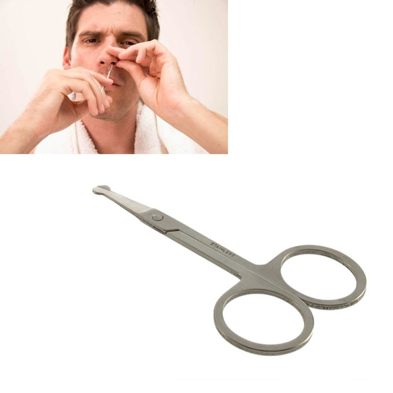 Nose Hair Scissors Stainless Steel Ear Trimmers Remover Cut Beauty Tool Curved Blades safely and Painlessly Trim Nose Hair